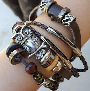 Owl adjustable bracelet